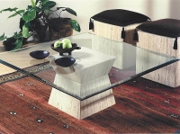 Stone International Clepsy Marble Cocktail Table Base Only