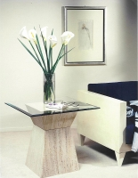 Stone International Clepsy Marble Lamp Table Base Only