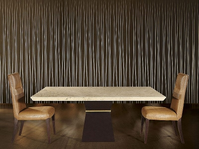Stone International Clepsy Plus Marble and Wood Dining Table