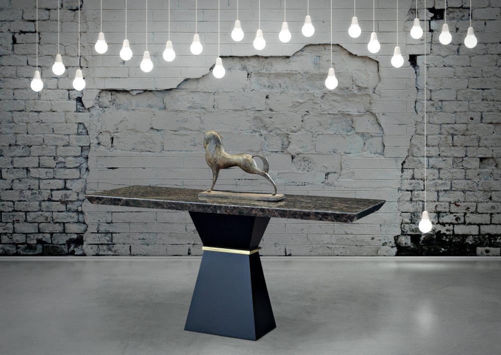 Stone International Clepsy Plus Marble and Wood Occasional Tables
