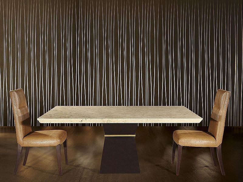 Stone International Clepsy Plus Dining Table - Marble and Wenge Wood