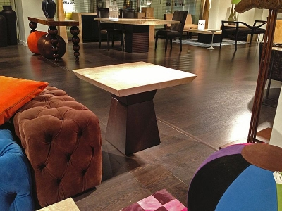 Stone International Clepsy Occasional Table - Marble and Wenge Wood