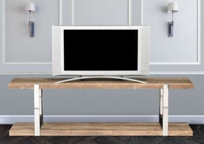 Stone International Elba Marble and Metal TV Unit