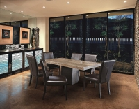 Stone International Espresso Dining Table - Marble and Wenge Wood