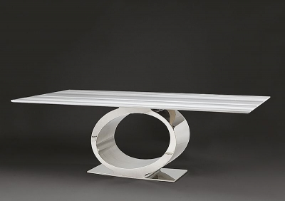 Stone International Eye Dining Table - Marble and Metal