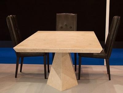 Stone International Freedom Beveled Edge Marble Rectangular Dining Table
