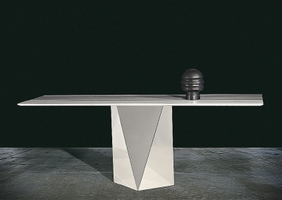Stone International Freedom Console Table - Marble and Stainless Steel