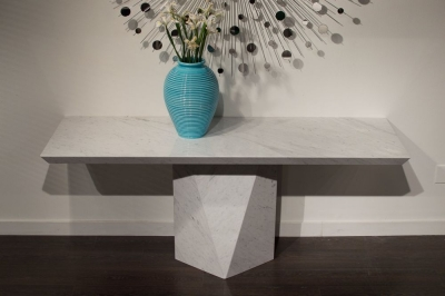 Stone International Freedom Marble Console Table