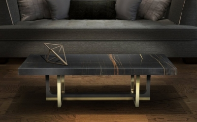 Stone International Harry Occasional Tables - Marble and Metal