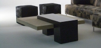 Stone International Helen Square Coffee Table - Marble and Wenge Wood