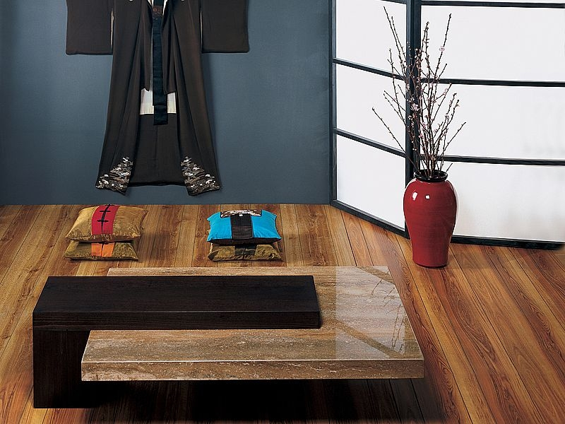 Stone International Helen Large Coffee Table - Marble and Wenge Wood
