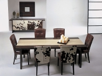 Stone International Hermes Wooden Dining Table with Insert Marble - 230cm