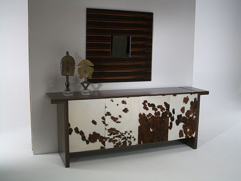 Stone International Hermes Marble and Wenge Wooden Buffet