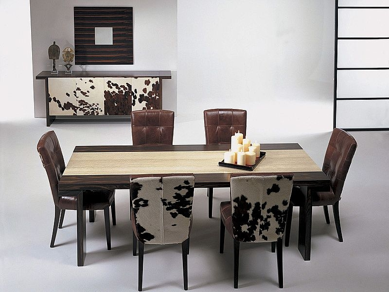Stone International Hermes Large Dining Table with Insert Marble