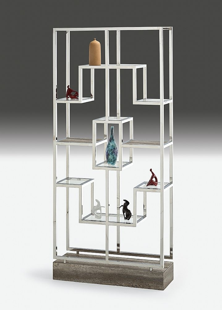 Stone International Kubo Etagere Marble Shelving Unit - Glass and Metal