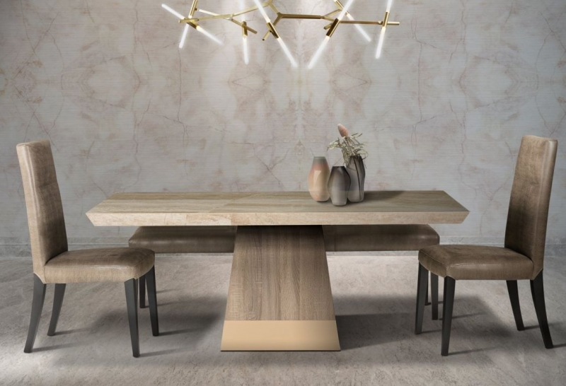 Stone International Liberty Marble Dining Table