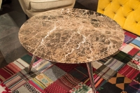 Stone International Livia Marble Round Coffee Table