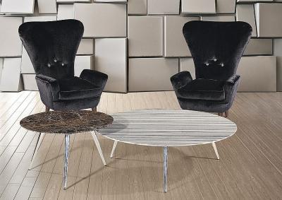 Stone International Livia Marble Oval Coffee Table