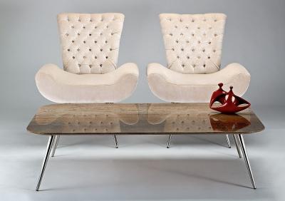 Stone International Livia Marble Coffee Table