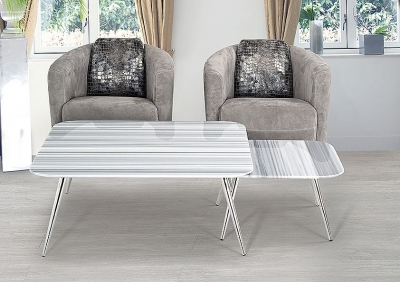Stone International Livia Marble Square Coffee Table