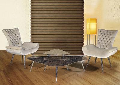 Stone International Livia Marble Triangle Coffee Table
