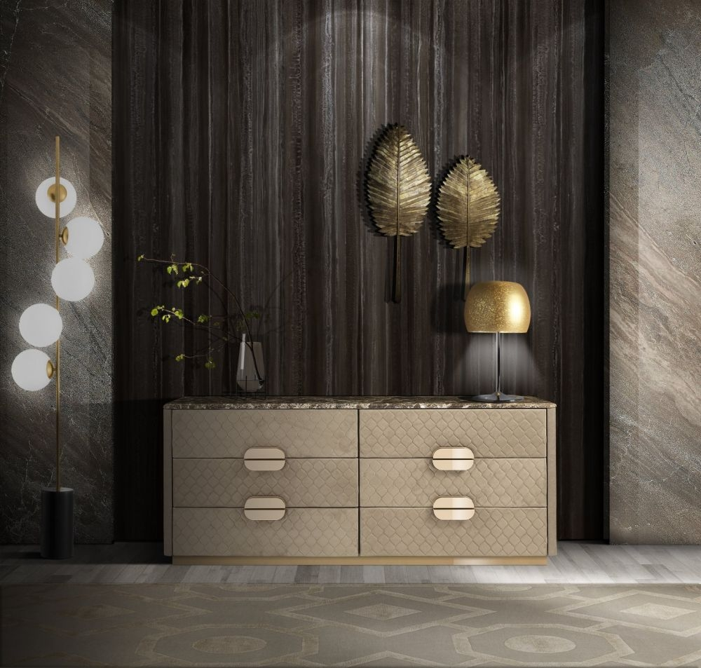 Stone International Marylin Marble 6 Drawer Chest