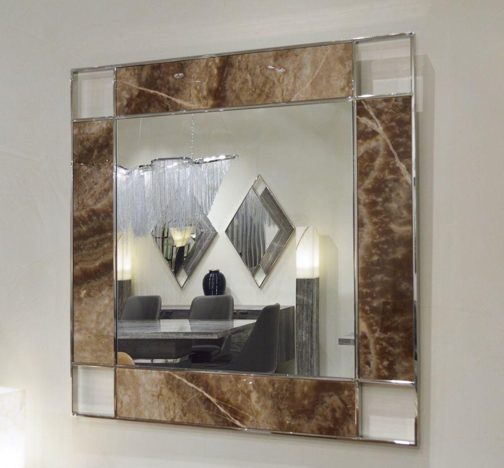 Stone International Marble Inlay Square Mirror - 110cm x 110cm