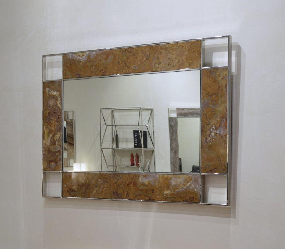 Stone International Marble Inlay Rectangular Mirror - 90cm x 130cm