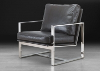 Stone International Febo Leather Occasional Chair