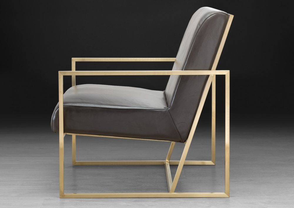 Stone International Kente Leather Occasional Chair