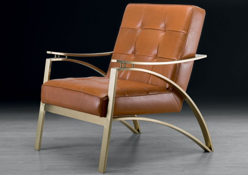 Stone International Camilla Leather Occasional Chair