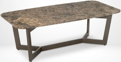 Stone International Oscar Marble and Metal Coffee Table