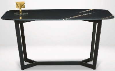 Stone International Oscar Marble and Metal Console Table