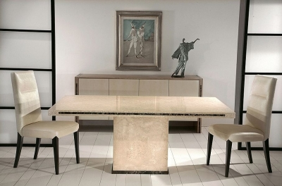 Stone International Paris Marble Dining Table