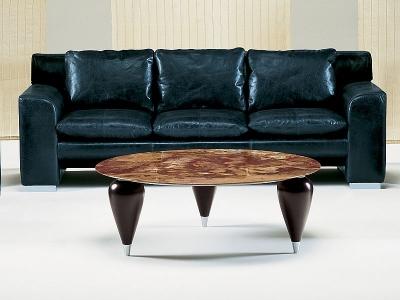 Stone International Positano Round Coffee Table - Marble and Wenge Wood