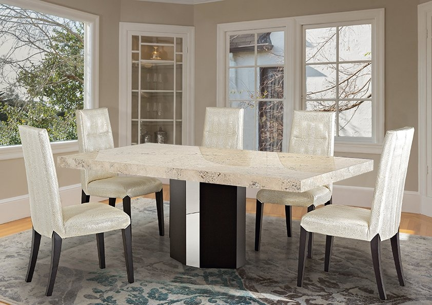 Stone International Rialto Dining Table - Marble and Wenge Wood