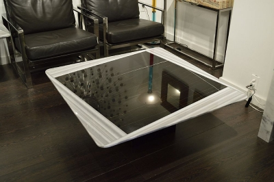 Stone International Shutter Two Tone Marble Coffee Table