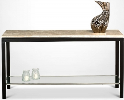 Stone International Stilo Marble and Metal Console Table