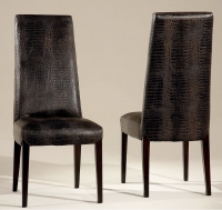 Stone International Juliette Leather Dining Chair with Wenge Legs (Pair)