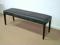 Stone International Juliette Leather Dining Bench with Wenge Legs