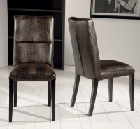 Stone International Lisa Leather Dining Chair with Wenge Legs (Pair)