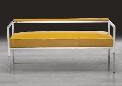 Stone International Beverly Leather Bench