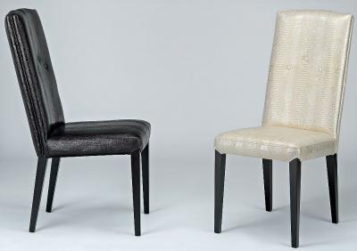 Stone International Sandy Leather Dining Chair (Pair)