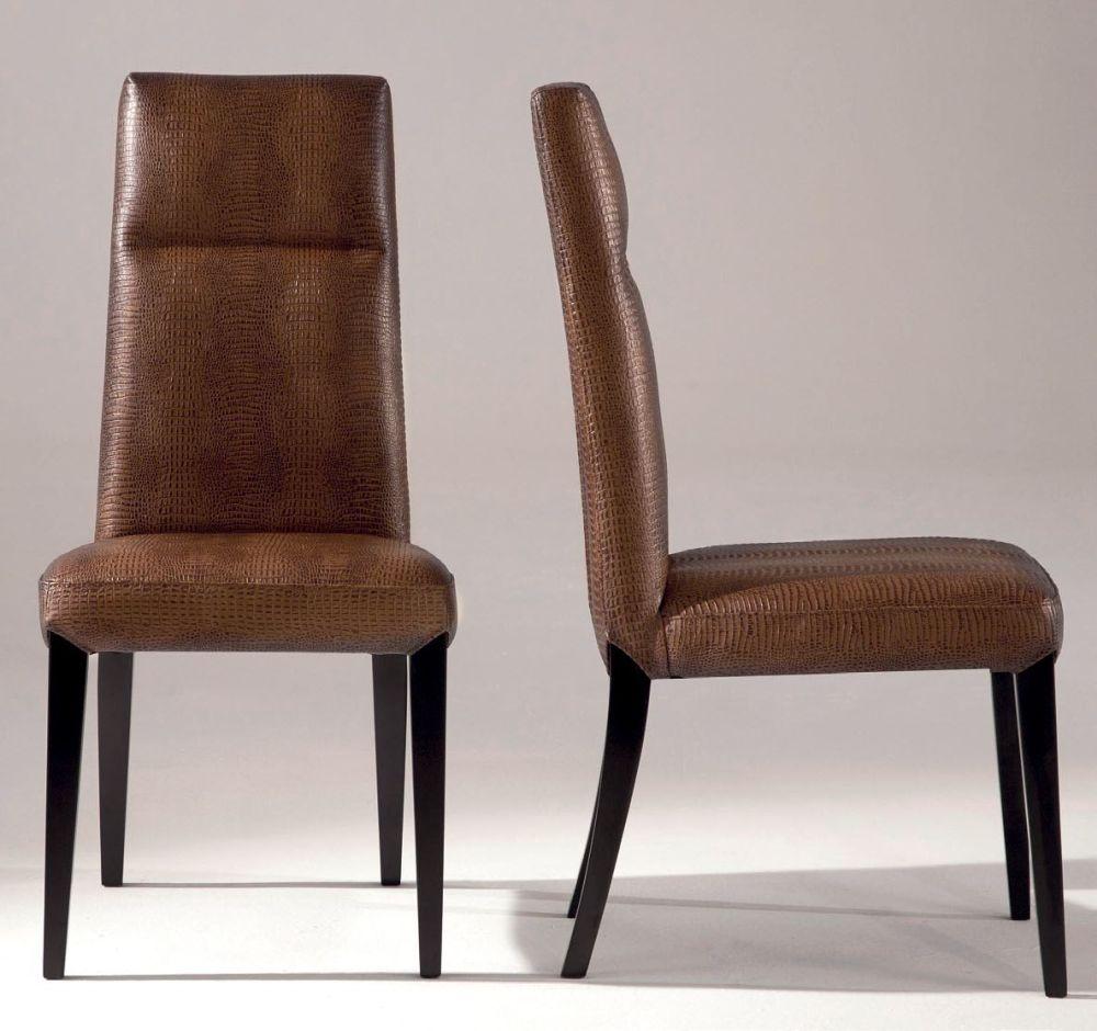 Buy stone international cloe leather dining chair with wenge legs pair online cfs uk - Stone international ...