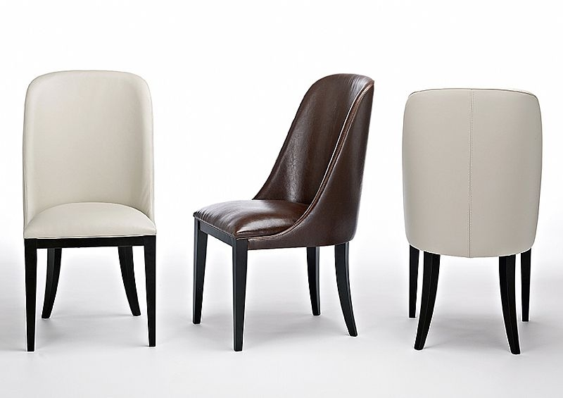 Stone International Flavia Leather Dining Chair (Pair)