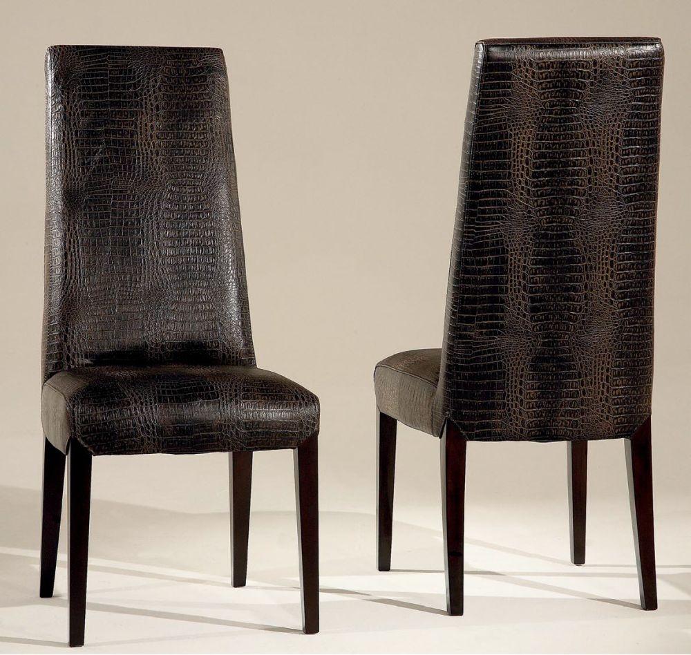 Buy stone international juliette leather dining chair with wenge legs pair online cfs uk - Stone international ...