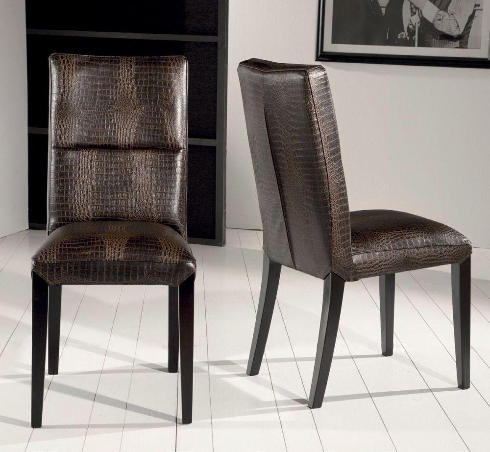 Buy stone international lisa leather dining chair with wenge legs pair online cfs uk - Stone international ...