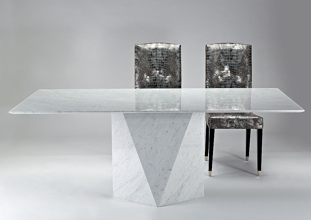 buy stone international freedom slim edge marble rectangular dining table online cfs uk. Black Bedroom Furniture Sets. Home Design Ideas