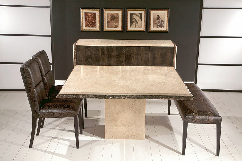 Stone International Parthenon Marble Dining Table