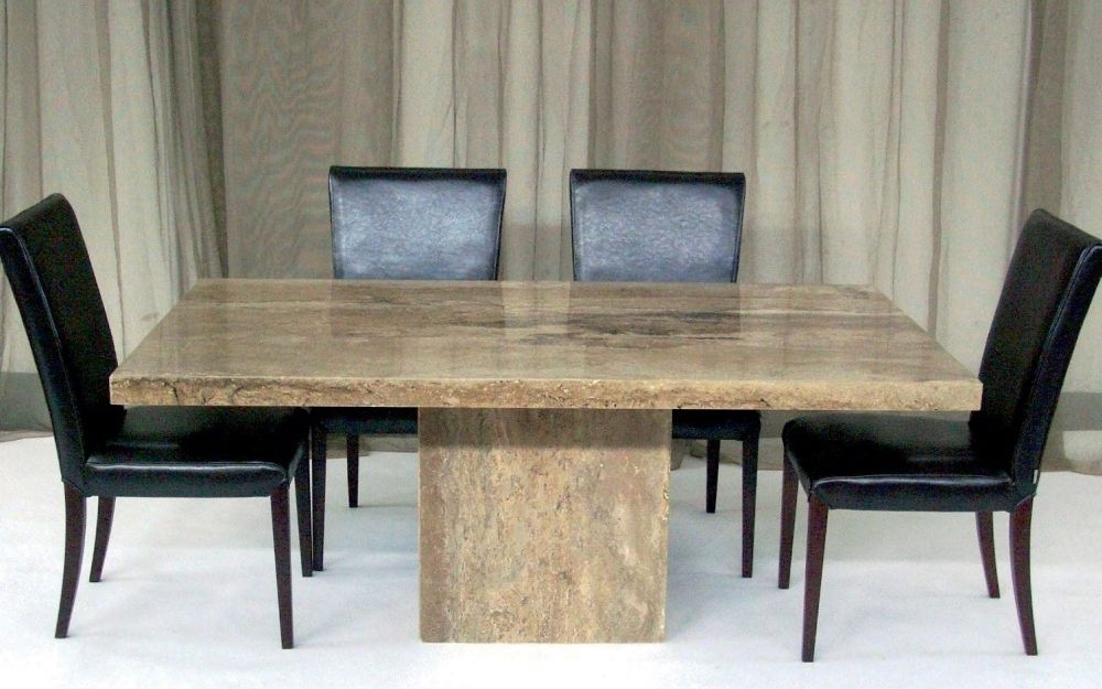 Stone International Roma Boxed Edge Marble Dining Table